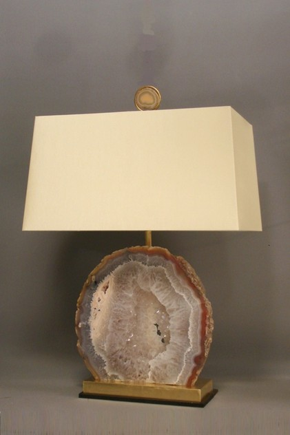 Bespoke made large AGATE specimen table lamp.-empel-collections-Mineral    large agate table lamp-001_main_636119878822305310.JPG