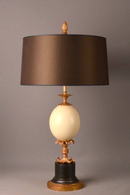Bespoke ostrich egg table lamp decorative collective empel collections ostrich egg table lamp aloadofball Images