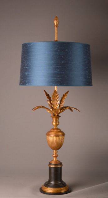 Bespoke vintage inspired PALMETTE table lamp.-empel-collections-PALMETTE table lamp on ribbed urn._main.JPG
