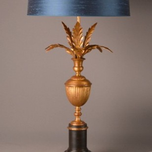 Bespoke vintage inspired PALMETTE table lamp.