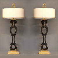 Pair antique stair balusters/railings as lamps