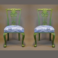 Pair of ball and claw feet side chairs