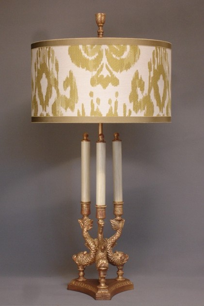 Bespoke gilded bronze Dolphin table lamp.-empel-collections-Tripod Dolphin table lamp_main_636110940978226861.JPG
