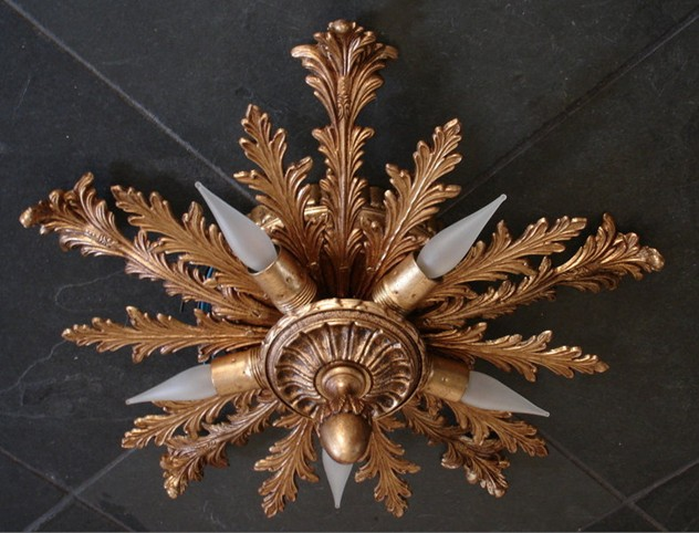 Bespoke classic cast bronze leaves ceiling lamp.-empel-collections-accanthus flush ceiling lamp-003_main.jpg