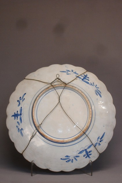Vintage scallop edge blue-white charger 46cm Ø.-empel-collections-antique Chinese plate -003_main_636066011062004840.JPG