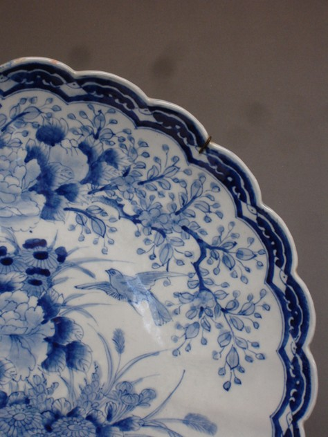 Vintage scallop edge blue-white charger 46cm Ø.-empel-collections-antique Chinese plate -004_main_636066011131896424.JPG