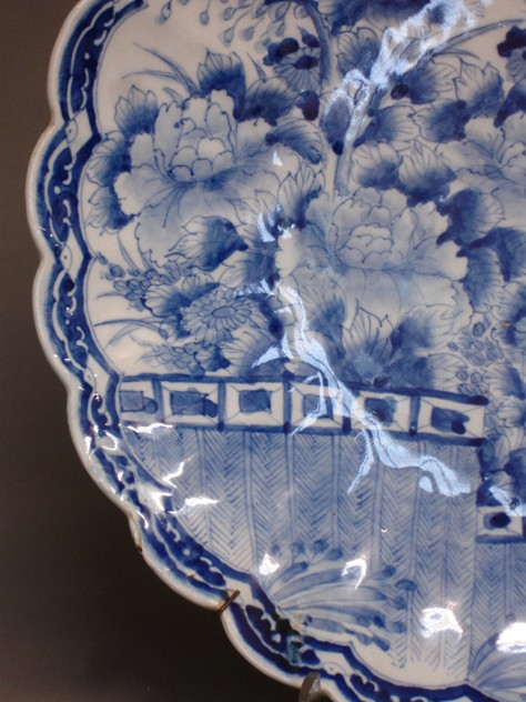 Vintage scallop edge blue-white charger 46cm Ø.-empel-collections-antique Chinese plate -005_main_636066011203972120.JPG
