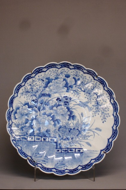 Vintage scallop edge blue-white charger 46cm Ø.-empel-collections-antique Chinese plate _main_636066010993361320.JPG
