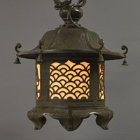 Large antique bronze Chinese lantern