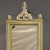 Painted oak mirror