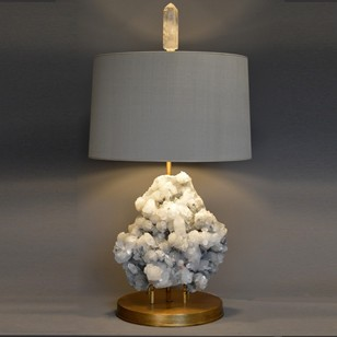 Bespoke textured Apophilite mineral as lamp