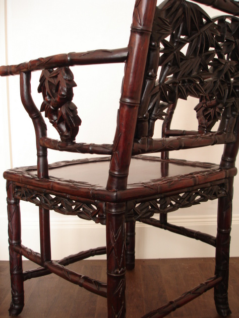 Antique coromandel wood Japanese arm chair.-empel-collections-back of chair 9-6-2011 15-57-34.2011 014_main.jpg