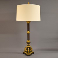 Single cast bronze table lamp with ormulu details