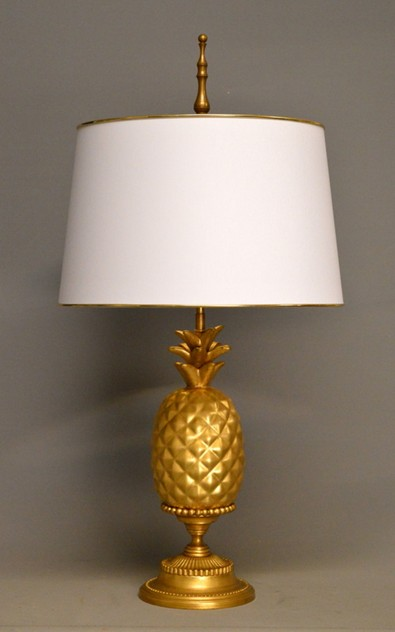 Pair of gold leaf ceramic pineapple lamps-empel-collections-ceramic pineapple table lamp-006_main_636528396519829166.JPG
