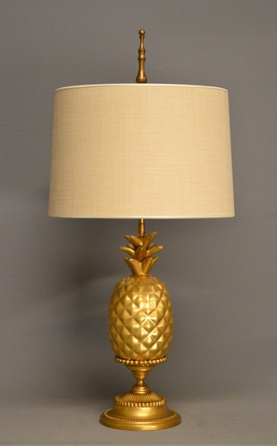 Pair of gold leaf ceramic pineapple lamps-empel-collections-ceramic pineapple table lamp-007_main_636528395122309502.JPG