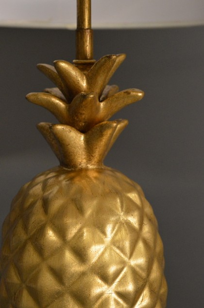 Pair of gold leaf ceramic pineapple lamps-empel-collections-ceramic pineapple table lamp-009_main_636528395297194470.JPG