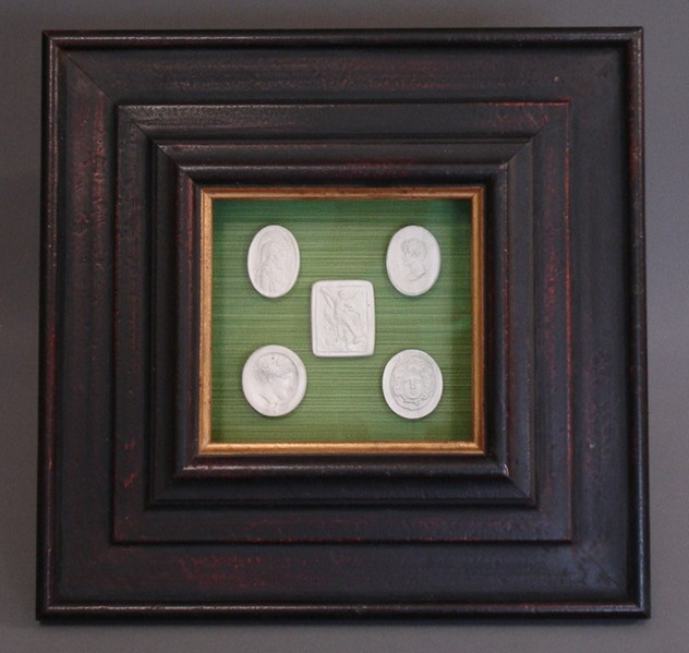 Bespoke framed intaglio's.-empel-collections-intaglio on green back drop.bmp_main.jpg