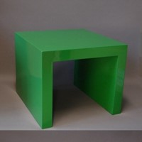 "Bespoke ""parson style"" coffee table, Kelly green"