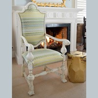 Restored Antique Dutch Knight arm Chair