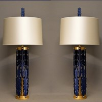 Bespoke acanthus leaf table lamps