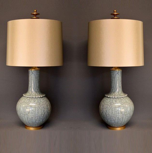 Pair,  Mid-century style celadon craquel lamps-empel-collections-large celadon vases as lamps-002_main_636558646297636556.jpg