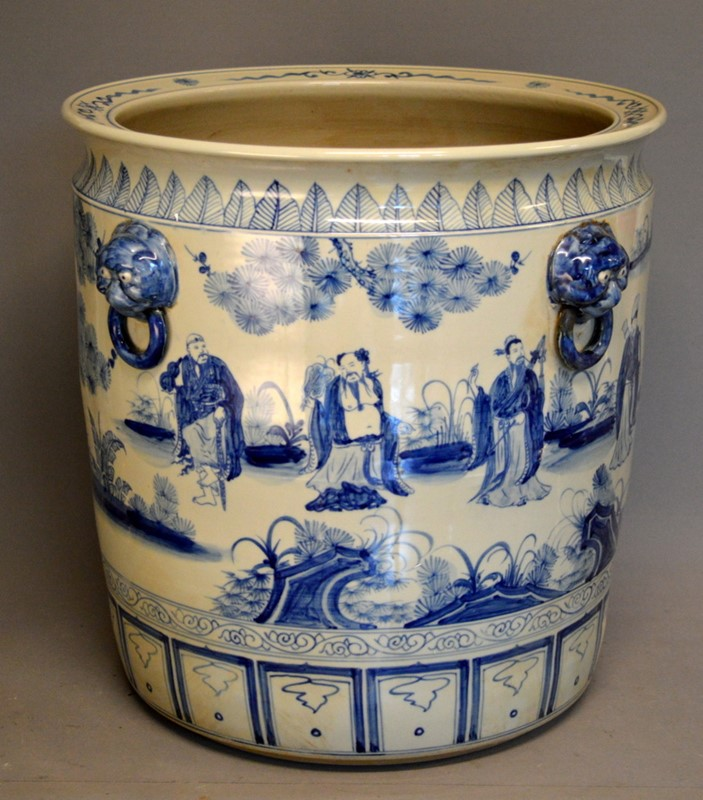 2 pairs large Chinoiserie cache pots / planters-empel-collections-large-blue-and-white-planter--main-636947429788783956.JPG