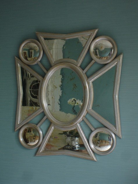 Bespoke made maltese cross mirror.-empel-collections-maltese cross mirro silver leaf.2011 031_main-1.jpg