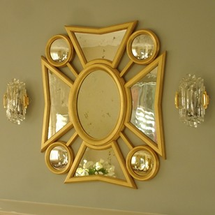 Bespoke made maltese cross mirror.