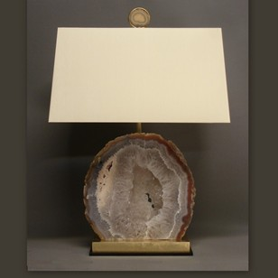 Bespoke made large AGATE specimen table lamp.