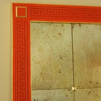 Bespoke greek key mirror