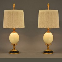 Bespoke Ostrich Egg lamp LOW model