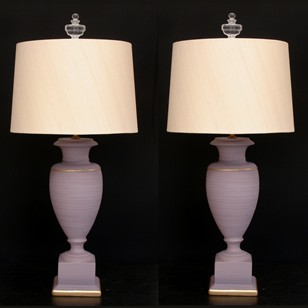 Pair of vintage classic vase lamps.