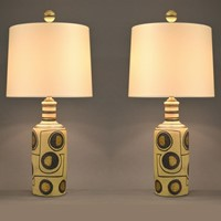 Pair of ethnic style table lamps ( 3 pair)
