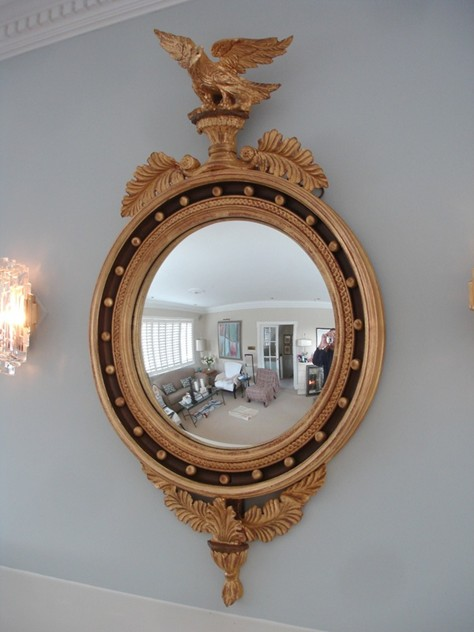 120 cm Recency convex gilt wood mirror.-empel-collections-regency mirror-002_main.JPG