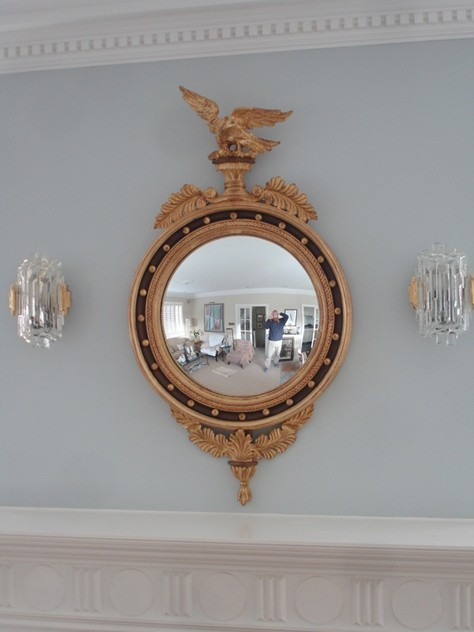120 cm Recency convex gilt wood mirror.-empel-collections-regency mirror_main.JPG