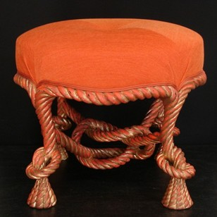 Hand Carved ROPE stools