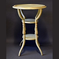 Single vintage painted three tiered accent table