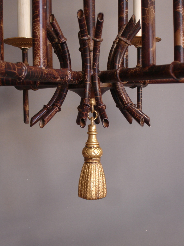 Empel collections vintage faux bamboo chandelier