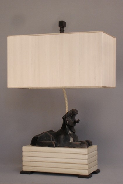 Pair of Art Deco cast iron lions mounted as lamps.-empel-collections-vintage pair of cast iron lions mounted as lamps-009_main_636059204749347926.JPG