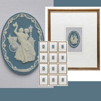 12 small wedgewood plaques in your choice of frame