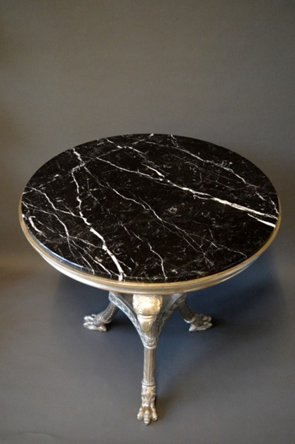 Bespoke Gueridon in silver leaf, black marble-empel-collections-wood carved gueridon with marble top-002_main_636322706732344878.JPG