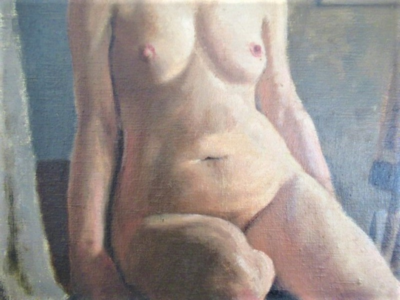 Pair of British Mid Century Nudes Oil on Canvas -exquisitries-antiques-jay7-main-637096866580353126.JPG