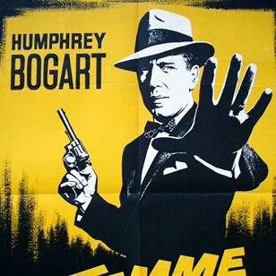 1950's French Poster for the Enforcer Bogart