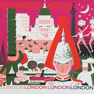 1960s London Travel Poster by Daphne Padden