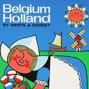 60s Belgium Holland Travel Poster by Harry Stevens