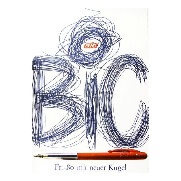 1960s Bic Pens Advertising Art Poster-fears-and-kahn-bicposter_main_636068540961744907.jpg