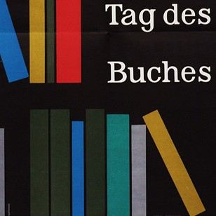 1950's German Book Day Poster Pop Art Design