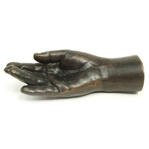 Bronze Hand Sculpture by British Artist K Braine