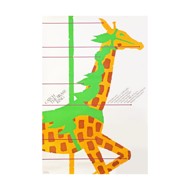 1980s Giraffe Poster for the musical Carousel -fears-and-kahn-carouselhorse-1_main.jpg