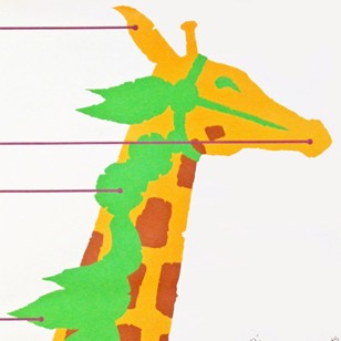 1980s Giraffe Poster for the musical Carousel